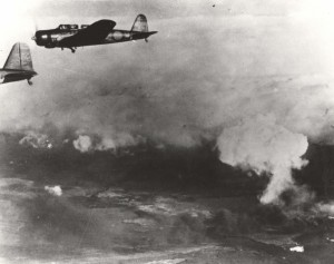 Japanese aircraft on mission to attack Pearl Harbor, December 7, 1941.